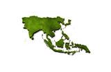 3D Asia Map Grass