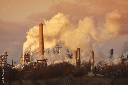 Air Pollution from Smoke Stacks Fototapete
