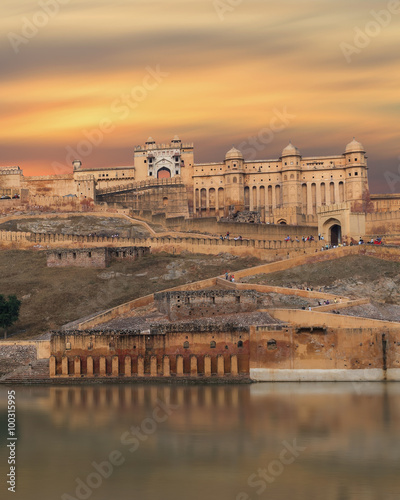 Foto op Aluminium Vestingwerk View of Amber fort, Jaipur, India