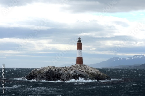 Garden Poster Lighthouse Lighthouse in the Beagle channel.
