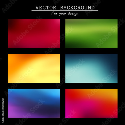 Photo  Abstract blurred vector backgrounds
