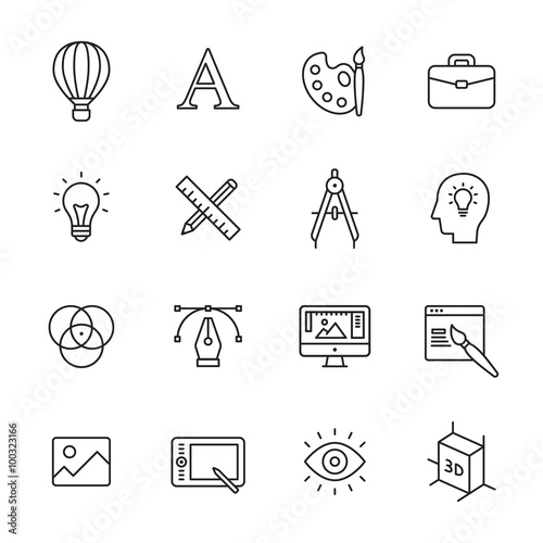 Photo  Design Line Icons