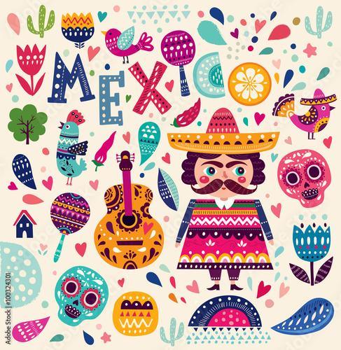wzor-z-symbolami-meksyku