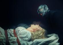 Nightmare. Insane Woman And Her Inner Monster