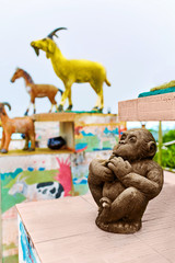 Thailand. Chinese Zodiac Statues In Koh Samui. Travel, Tourism.