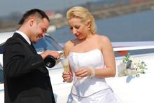 Attractive Wedding Couple Brid...