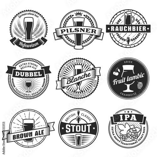 Photo  Craft beer labels
