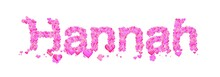 Hannah Female Name Set With He...