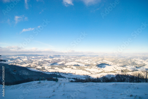 Poster Scandinavie Snow wind in mountains