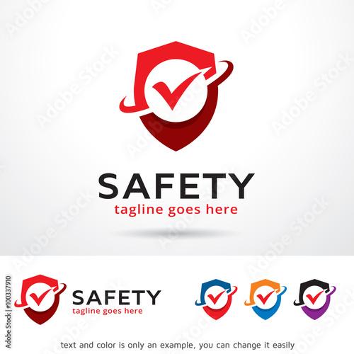 Safety Logo Template Design Vector