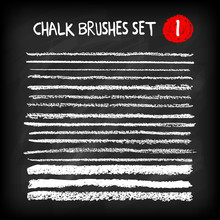 Set Of Chalk Brushes