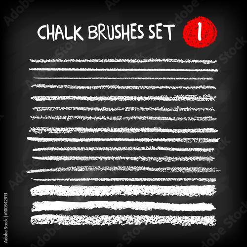 Set of chalk brushes Canvas Print