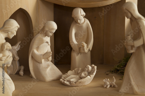 Fotografie, Obraz  Weihnachtskrippe.