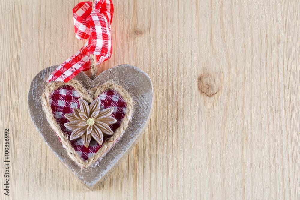 Herz Valentinstag / Muttertag, Landhaus Rustikal Hintergrund Poster ...