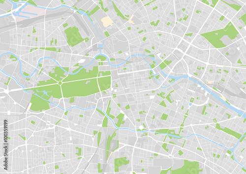 Zdjęcie XXL wektorowa mapa miasta z Berlin, Niemcy