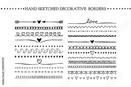 Fotografía  Vector vintage borders and scroll elements