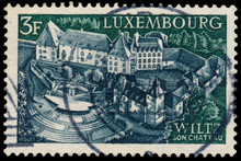 Stamp Printed In Luxembourg Shows Wiltz Castle