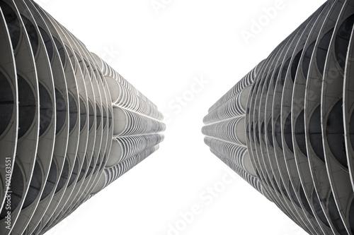 Stampa su Tela Closeup of Contemporary Tower
