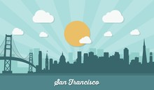 San Francisco Skyline - Flat Design
