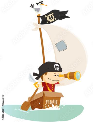 Plakat pirat do morza!