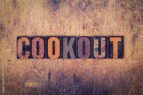 Photo  Cookout Concept Wooden Letterpress Type