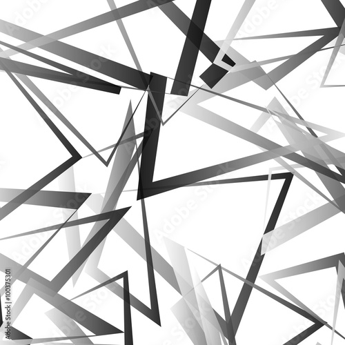 Abstract vector with scattered, angular edgy shapes. Wall mural
