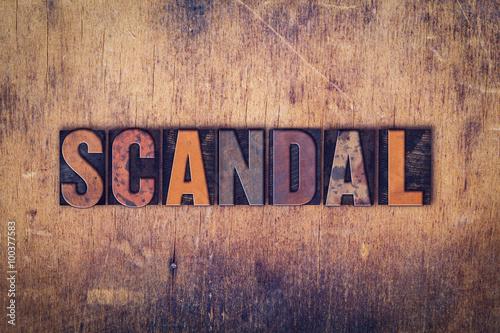 Fotografía  Scandal Concept Wooden Letterpress Type