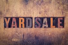 Yard Sale Concept Wooden Lette...