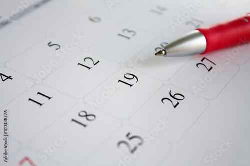 Obraz calendar - fototapety do salonu