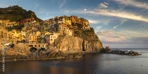 Printed kitchen splashbacks Athens town on the rocks by the sea, Manarola,Italy