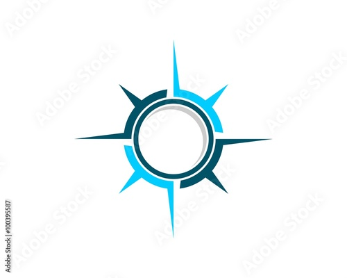blue compass rose logo template 2 buy this stock vector and