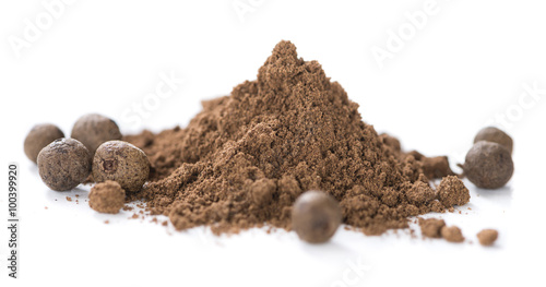 Allspice Powder (isolated on white) Wallpaper Mural