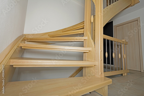 Photo Stands Stairs Holztreppe