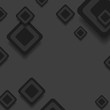 Black abstract tech squares vector design