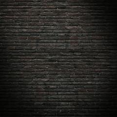 Part of the old, black brick wall. Mockup