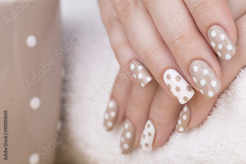 Beauty Treatment Photo Of Nice Manicured Woman Fingernails Very