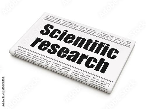 Fotografia  Science concept: newspaper headline Scientific Research
