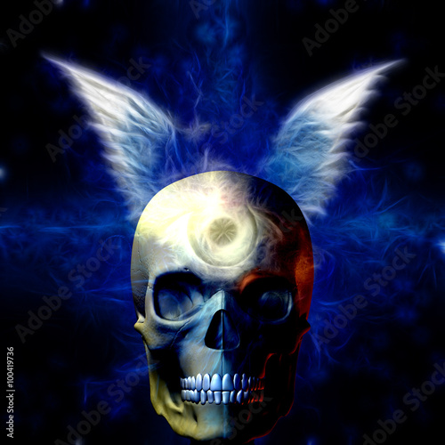 Photo  Winged Skull with Eye