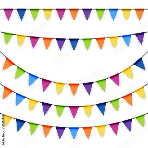 Fotografia  party garlands colored