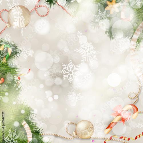 Fototapeta Christmas Fir Tree. EPS 10 obraz na płótnie