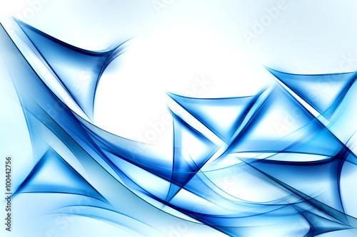 niesamowite-streszczenie-fali-niebieski-trojkat