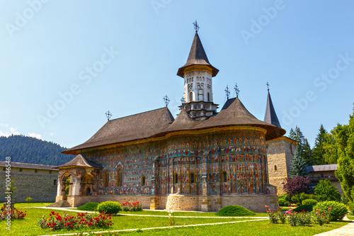 Das Sucevita Kloster ist ein Kloster rumänisch-orthodoxen befindet sich in der G Fototapete