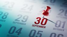 September 30 Written On A Cale...