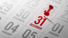 December 31 Written On A Calendar To Remind You An Important App