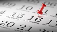 September 16 Written On A Cale...