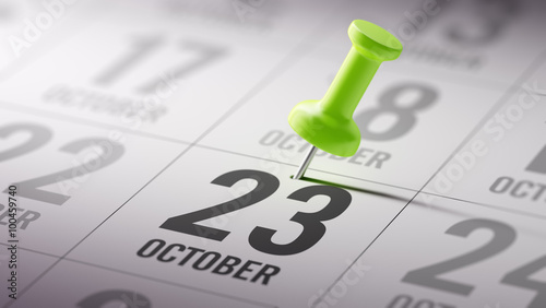 Papel de parede  October 23 written on a calendar to remind you an important appo