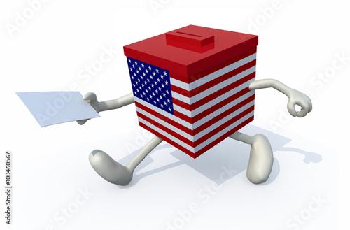 Fotografia, Obraz  a ballot box with arms and legs