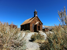 Abandoned Wooden Church In Bodie, California