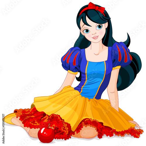 Fotografie, Obraz  Snow White Girl