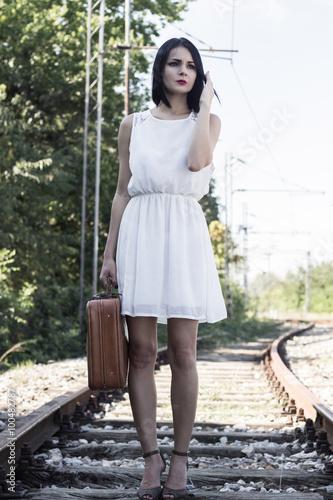On a railroad